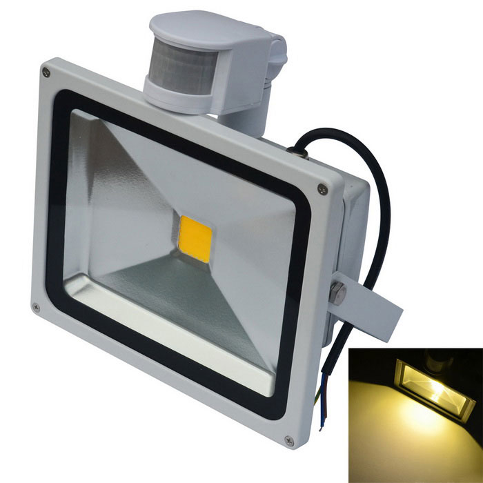 JIAWEN Waterproof LED Warm White Human Body IR Induction FloodlightFloodlights<br>Form  ColorWhiteColor BINWarm WhiteModelAN-FG-003-WWMaterialAluminumQuantity1 DX.PCM.Model.AttributeModel.UnitWaterproof GradeIP65Power30WRated VoltageAC 85-265 DX.PCM.Model.AttributeModel.UnitConnector TypeOthers,wiringEmitter TypeCOBTotal Emitters1Theoretical Lumens2400-2500 DX.PCM.Model.AttributeModel.UnitActual Lumens2400-2500 DX.PCM.Model.AttributeModel.UnitColor Temperature12000K,Others,3000-3200KDimmableNoBeam Angle120 DX.PCM.Model.AttributeModel.UnitOther FeaturesPower cord: 30cmPacking List1 x LED floodlight<br>