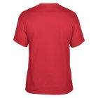 Men's Simple Short-Sleeved Round Neck Plain T-Shirt - Red (L)