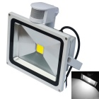 JIAWEN Waterproof 20W 6500K 1700lm White LED Human Body Infrared Induction Floodlight (AC 85-265V)