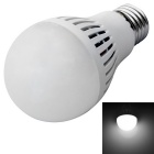 JIAWEN E27 5W White Light LED Ball Bulb 450lm 6500K 25-3528 SMD - White (AC 110~240V)