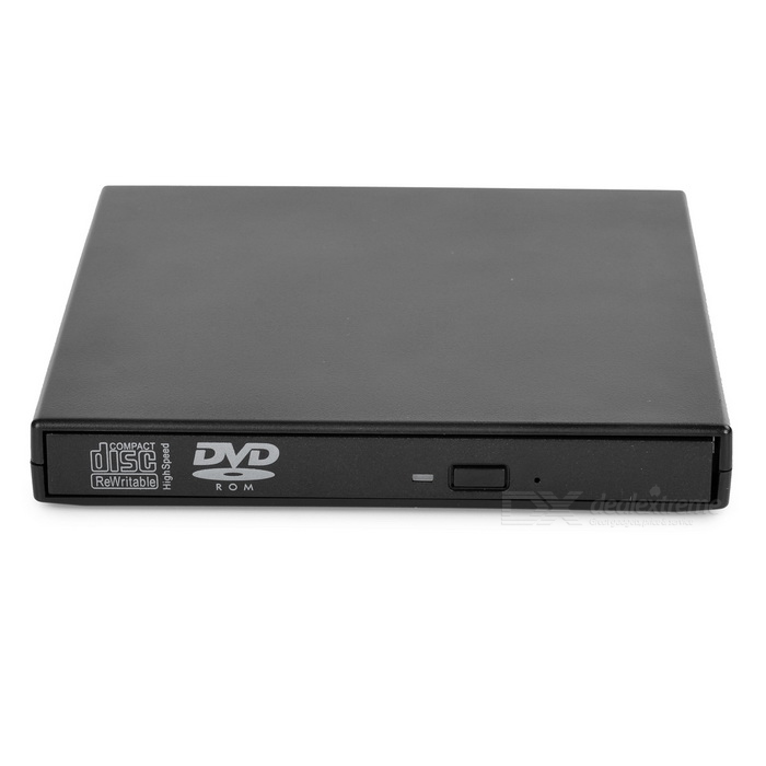 USB2.0 DVD-ROM / DVD-optinen asema laptop / desktop - musta