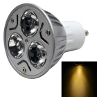 JIAWEN GU10 3W Dimmable 3-LED Spotlight Bulb Lamp Warm White Light 3200K 300lm (AC 100~220V)