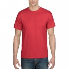 Men's Simple Short-Sleeved Round Neck Plain T-Shirt - Red (M)