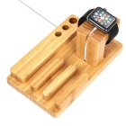 Titular de bambu criativo para IWATCH APPLE / IPHONE - Brown