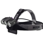 RichFire SF-617 XM-L T6 3-LED 1000lm 4-Mode Cool White Eagle Eye Bike Light Headlamp (4 x 18650)