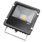JIAWEN Waterproof Wired 30W LED Floodlight Warm White Light - Black