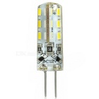 G4 1.5W 24-LED Light Bluish White 100lm 3014 SMD - White (DC 12V)
