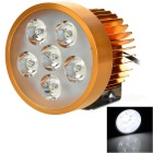 Wired 18W Car Electric Vehicle Motorcycle LED Headlamp Cool White 7000K 1800lm - Golden (12~80V)
