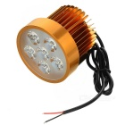 18W Car Electric Vehicle Motorcycle Cold White LED Headlamp - Golden