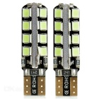 T10 1.5W LED Car Signal Bulb Ice Blue 32-SMD - Black + Silver (2PCS)