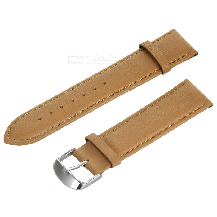 Top Cow Leather Watch Band w/ Attachments for APPLE WATCH 38mm - Brown