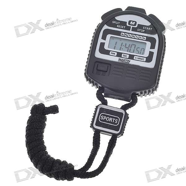 "1.1"" LCD Digital Stop Watch kaulan silmukka (1 * LR44)"