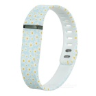 Replacement Daisy Pattern Large Sports TPE + TPU Wrist Band w/ Clasp for Fitbit Flex Smart Bracelet