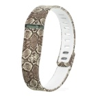 Replacement Snakeskin Pattern Large Sports TPE + TPU Wrist Band w/ Clasp for Fitbit Flex