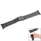 Replacement Stainless Steel Watchband w/ Band Attachment for APPLE WATCH 42mm - Black