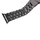 Stainless Steel Watchband w/ Attachment for APPLE WATCH 42mm - Black