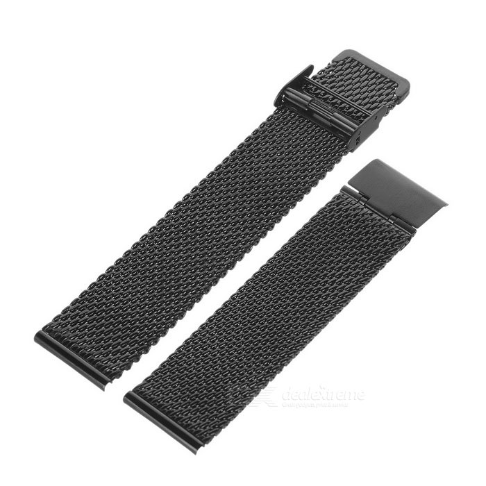Coarse Pattern Stainless Steel Watch Band for APPLE WATCH 38mm - Black