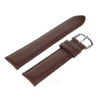 Top Cow Leather Watch Band w/ Attachments + Buckle for APPLE WATCH 38mm - Deep Brown