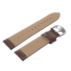 Top Cow Leather Watch Band w/ Attachments for IWATCH 38mm - Deep Brown