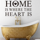"""Home Is Where"" Classic Home Decoration PVC Wall Sticker Decal - Black"