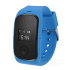 "0.66"" OLED GPS+LBS Dual Positioning Tracking Smart Watch w/ SOS / SIM / GSM for Kids - Blue + Black"