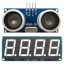 HC-SR04 Ultrasonic Distance Measuring + Display Module for Arduino