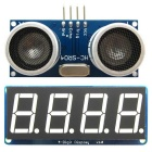 HC-SR04 Ultrasonic Sensor Kit Distance Measuring Module + 4-Digit Display Module for Arduino