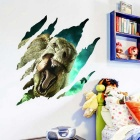 Perspective Jurassic Park Dinosaur 3D Wall Stickers Children's Room Decal - Green