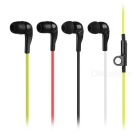 Walkie Talkie K-Type Flat Cable Single-Ear Earphone Set for Baofeng 888S / 5R / 5RE + More (4 PCS)