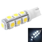 T10 2.5W 210lm 13-SMD 5050 LED White Light for Car Dashboard / Door / Trunk Lamps (DC 12V)