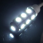 T10 2.5W 210lm 13-SMD LED White Light for Car Dashboard / Door Lamp