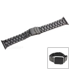 Replacement Stainless Steel Watch Band w/ Attachment for APPLE WATCH 38mm - Black
