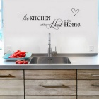 English Lettering Kitchen Home Decor Creative Room Restaurant Vinyl Wall Sticker - Black