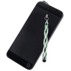 Kinston Touch Screen Stylus Pen w/ Clip, Anti-Dust Plug - Green+Black
