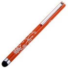 Kinston Embossing Style Aluminum Touch Screen Pen Stylus - Orange