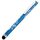 Kinston Embossing Style Aluminum Touch Screen Pen Stylus - Blue