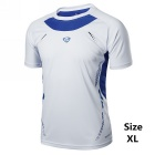 LS03 Men's Breathable Short-Sleeved T-Shirt Quick-Drying Jersey - White (XL)