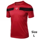 Men's Outdoor Breathable Quick-Drying Short-Sleeve T-Shirt Jersey - Red (Size L)