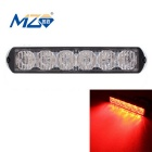 MZ Wired 18W 6-LED Car Flashing Warning Signal Lamp Red Light 660nm 1080lm - Black (12~24V)