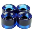W6045 High-strength 60*45mm PU Longboard Wheel Set - Blue (4PCS)
