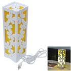 JIAWEN E27 7W Flower Style Desk LED Lamp White 6500K 600lm 36-5730SMD - Yellow + White (AC 110-220V)