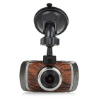 "3.0"" TFT 1080P 5.0MP 170' Car DVR G-Sensor - Champagne + Wood Color"