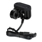 Jtron Motorcycle / Car Charger w/ Seat Belt Switch / Dual-USB - Black