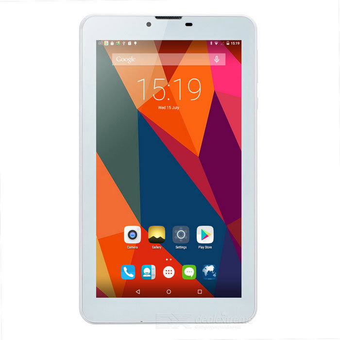 "draadloos opladen 7"" android 5.0 tablet-pc w / 1GB RAM, 4GB ROM - wit"