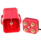 Upgraded 4 x 18650 DC / USB Dual Interfaces Protected Battery Case - Red