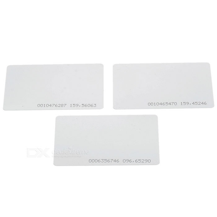 Contactless Rewritable Smart IC Cards - White (3PCS)