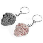 Crazing Skull Head Style LED Keychain Red Light - Grey + Pink (2PCS)