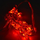 Heart Style Red LED String Light w/ Battery Case - White + Red (2m)
