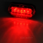 Butterfly Style Red Taillight + Valve Cap Lights Set - Red