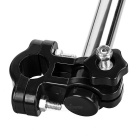 Foldable Stainless Steel + ABS Umbrella Stand for Bike - Black